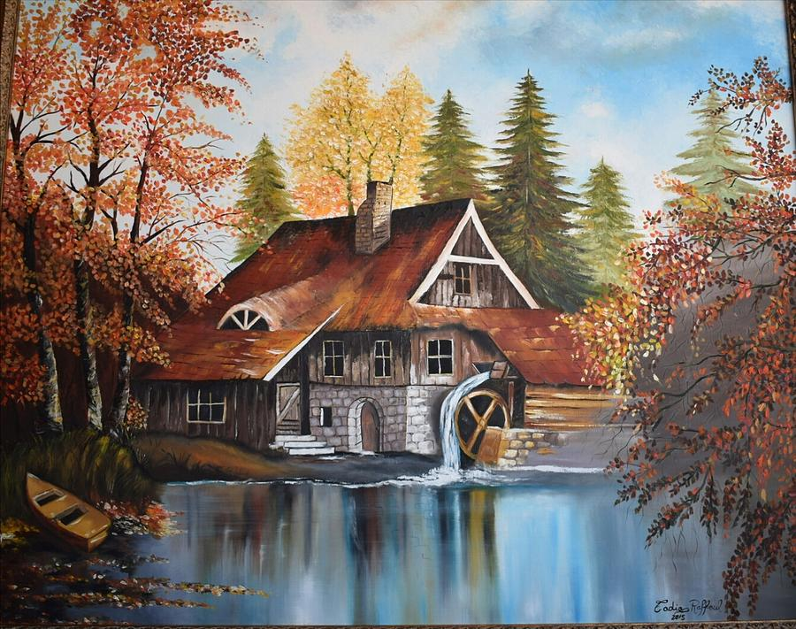 Landscape Painting - Vintage House by Fadia Raffoul