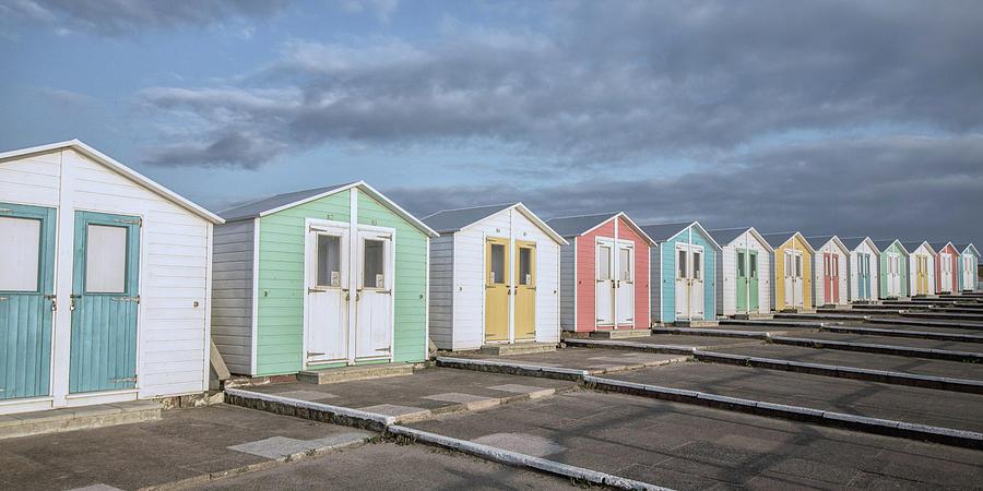 Beach Photograph - Vintage Huts by Martin Newman