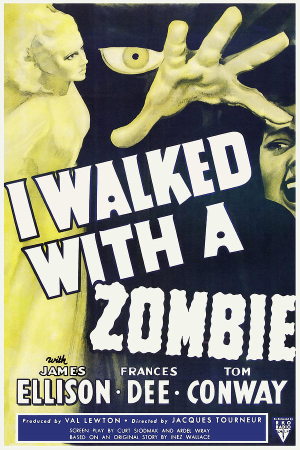 Vintage I Walked With A Zombie 1950 Poster
