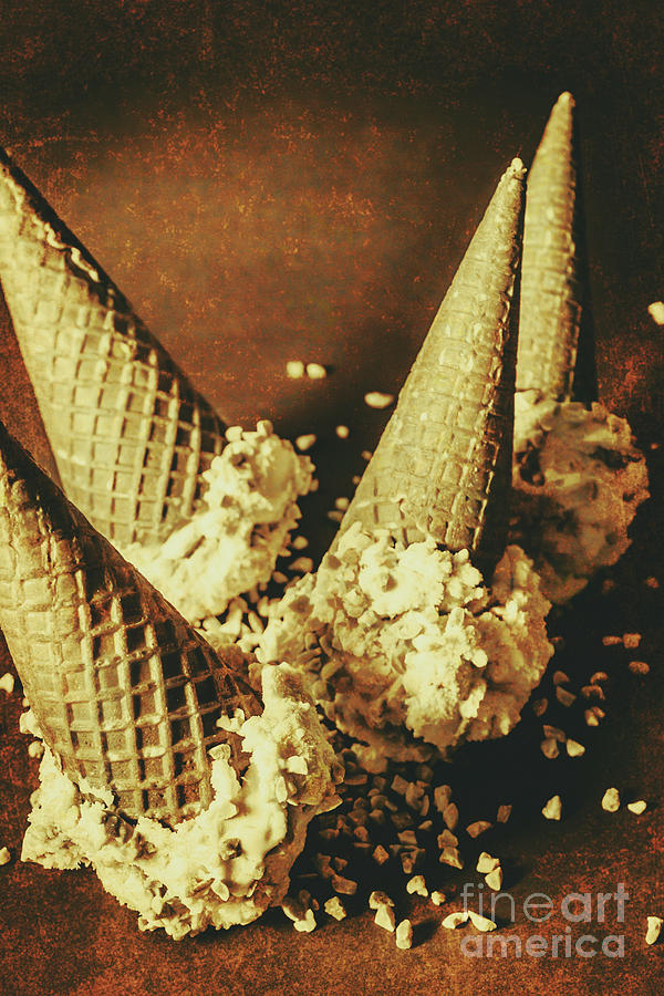 Vintage Ice Cream Cones Still Life Photograph by Jorgo Photography ...