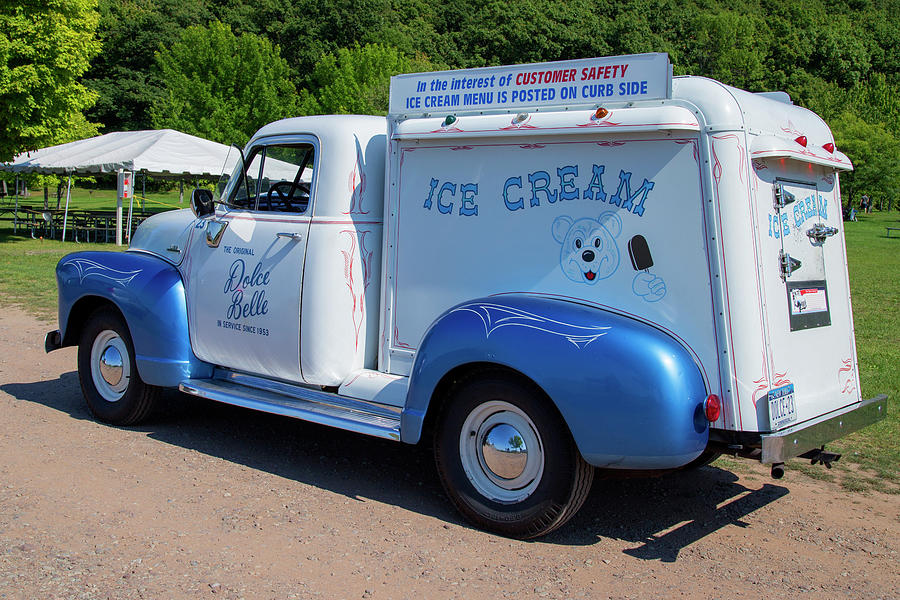 Vintage Ice Cream Truck Photograph