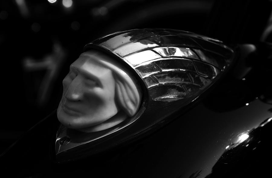 Chrome Photograph - Vintage Indian Chief Head by David Lee Thompson