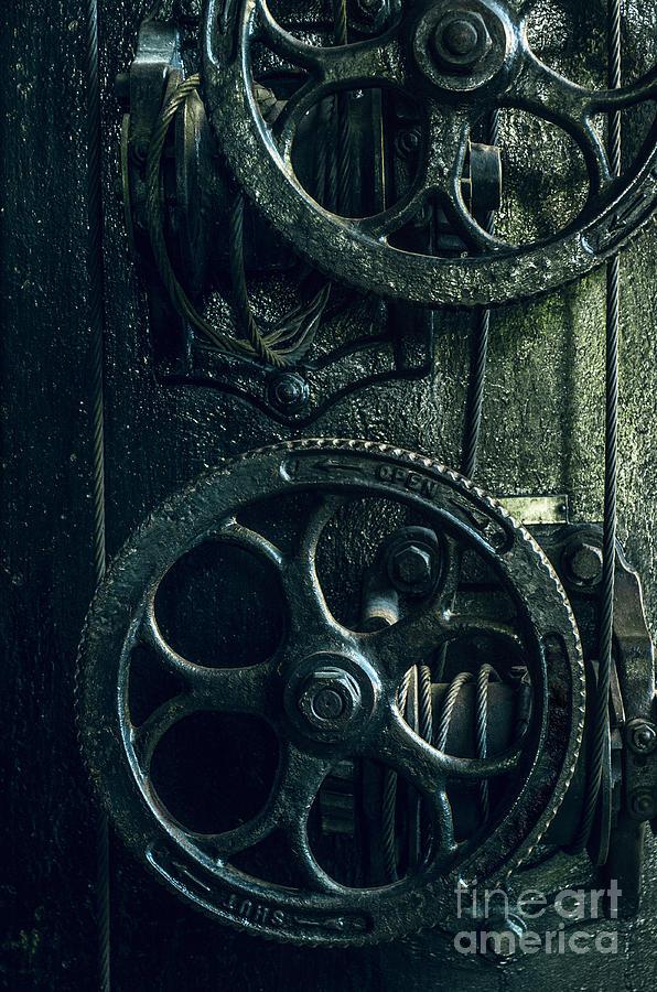 19th Century Photograph - Vintage Industrial Wheels by Carlos Caetano