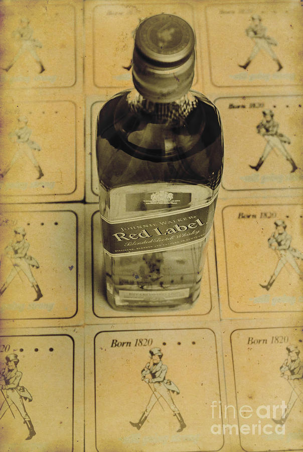 Bar Photograph - Vintage Johnnie Walker Advert by Jorgo Photography - Wall Art Gallery