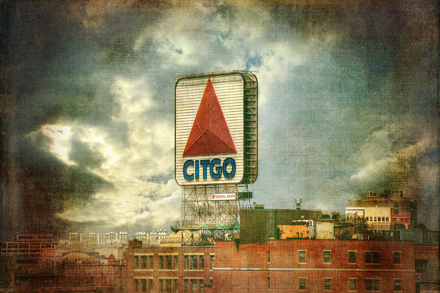 Boston Red Sox Photograph - Vintage Kenmore Square Citgo Sign - Boston Red Sox by Joann Vitali