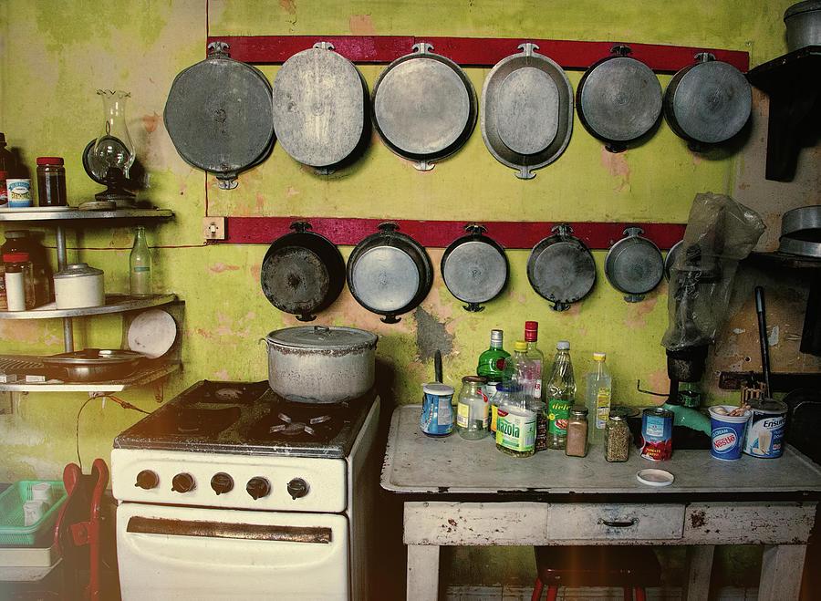 Cuba Photograph - Vintage Kitchen by Claude LeTien