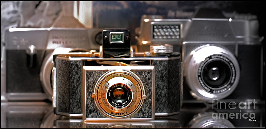 Cameras Photograph - Vintage Kodak Bantam by Steven Digman
