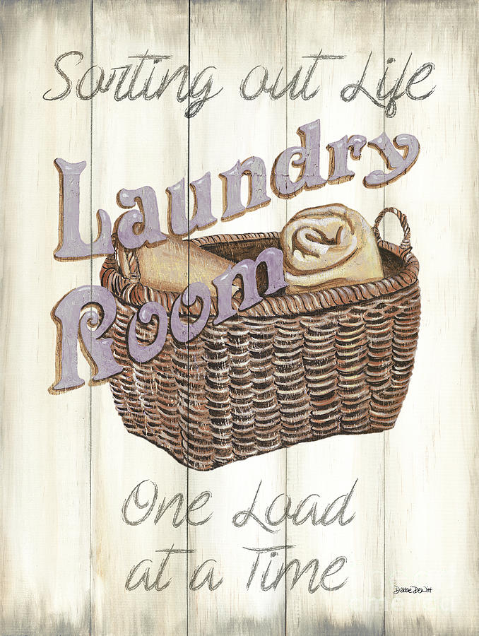 Laundry Painting - Vintage Laundry Room 2 by Debbie DeWitt