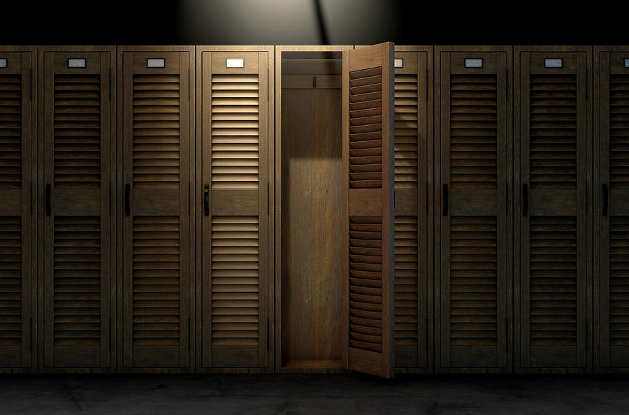 Locker Digital Art - Vintage Locker And Open Door by Allan Swart