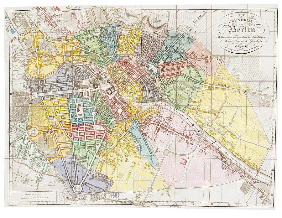 Vintage Map Of Berlin Drawing By CartographyAssociates - Vintage map berlin