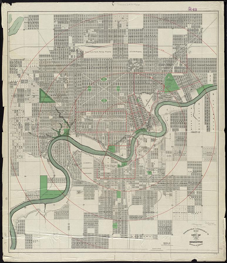 Vintage map of edmonton canada 1912 drawing by cartographyassociates edmonton drawing vintage map of edmonton canada 1912 by cartographyassociates gumiabroncs Images