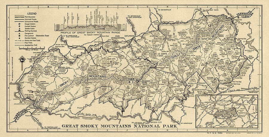 Vintage Map Of Great Smoky Mountains National Park From 1941 on map of the ozarks, map of great smoky mountains in tennessee, map of the grand canyon, map of the sequoia national park, map of the cumberland plateau, map of the adirondack park, map of the university of virginia, map of the smoky mtns,