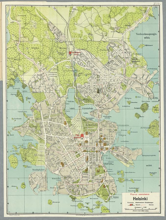 Geoatlas city maps helsinki map city illustrator fully map of vintage map of helsinki finland drawing by helsinki map gumiabroncs Choice Image