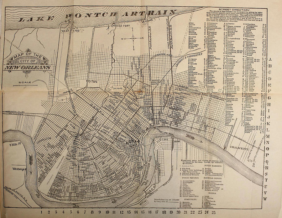 vintage new orleans map Vintage Map Of New Orleans Louisiana 1902 Drawing By vintage new orleans map