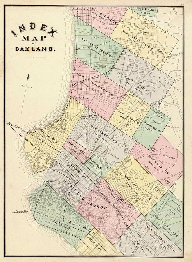Vintage map of oakland california 1878 drawing by oakland drawing vintage map of oakland california 1878 by cartographyassociates publicscrutiny Image collections