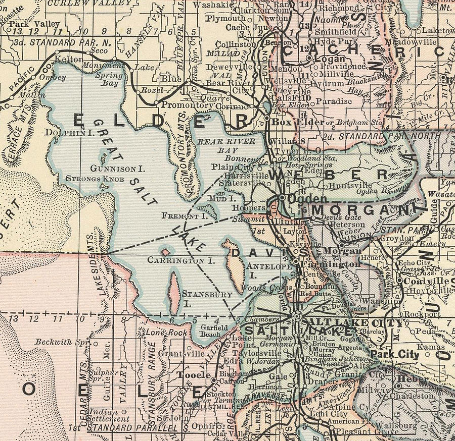 Vintage Map Of Salt Lake City - 1891