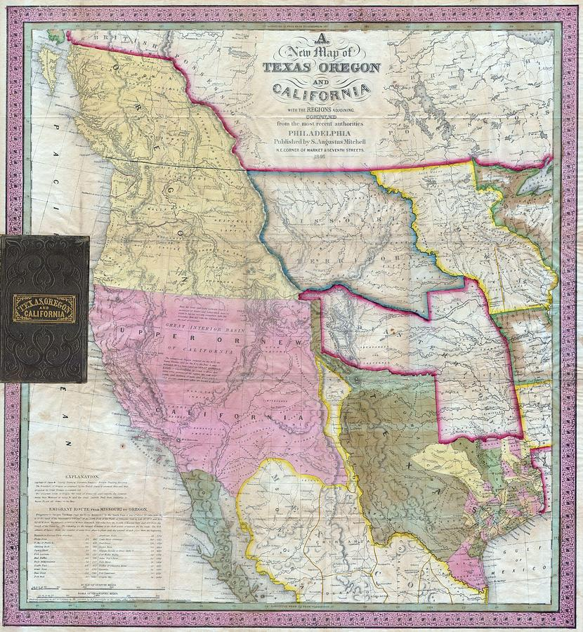 Vintage Map Of The Western United States