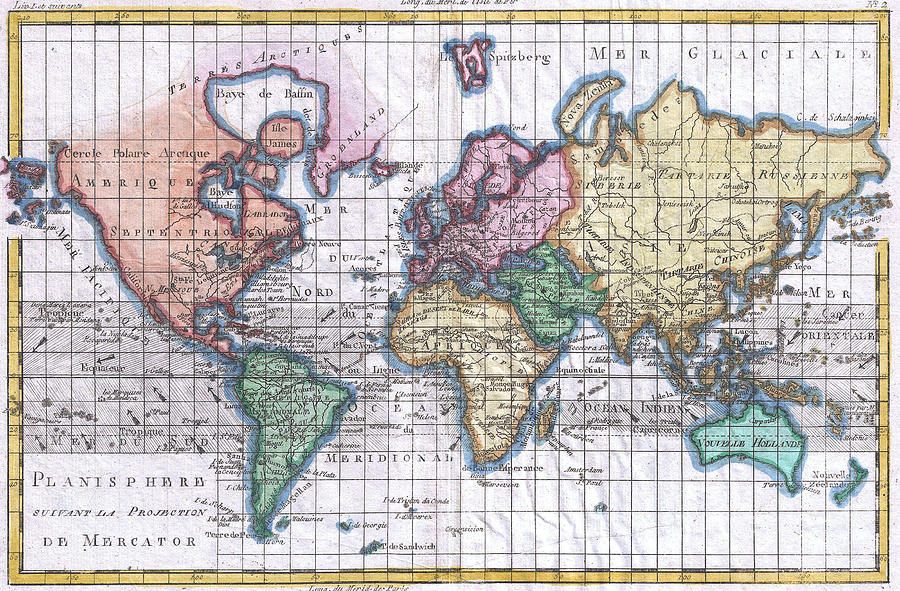 Vintage map of the world 1780 drawing by cartographyassociates world drawing vintage map of the world 1780 by cartographyassociates gumiabroncs Gallery
