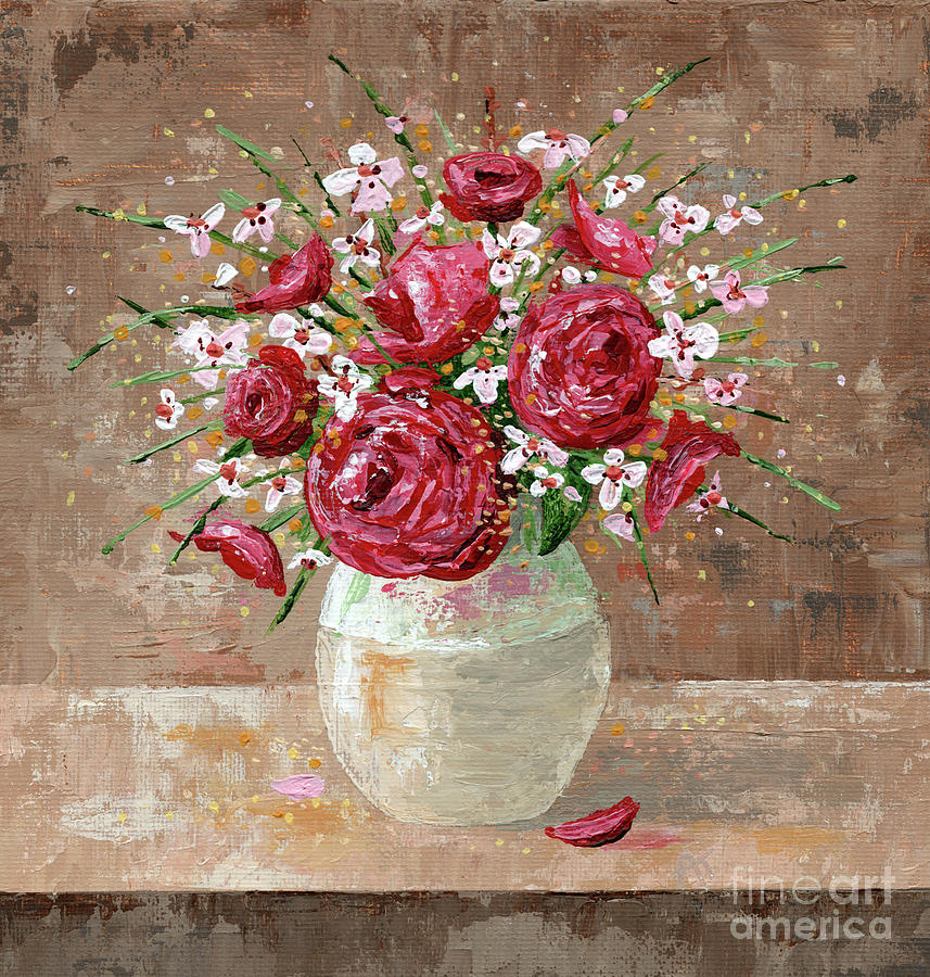 Flowers Painting - Vintage Memories by Annie Troe