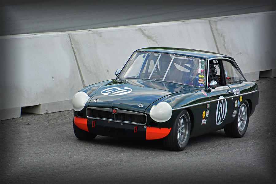 Vintage Mg Race Car Photograph by Mike Martin
