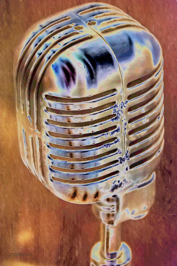 Vintage Microphone Photograph
