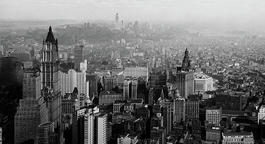 Vintage New York City Panorama 1930 Photograph By Mountain