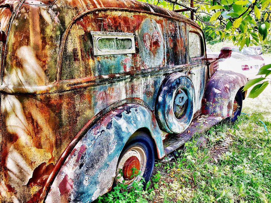 Splash Photograph - Vintage Painters Van  by Sue M Marshall