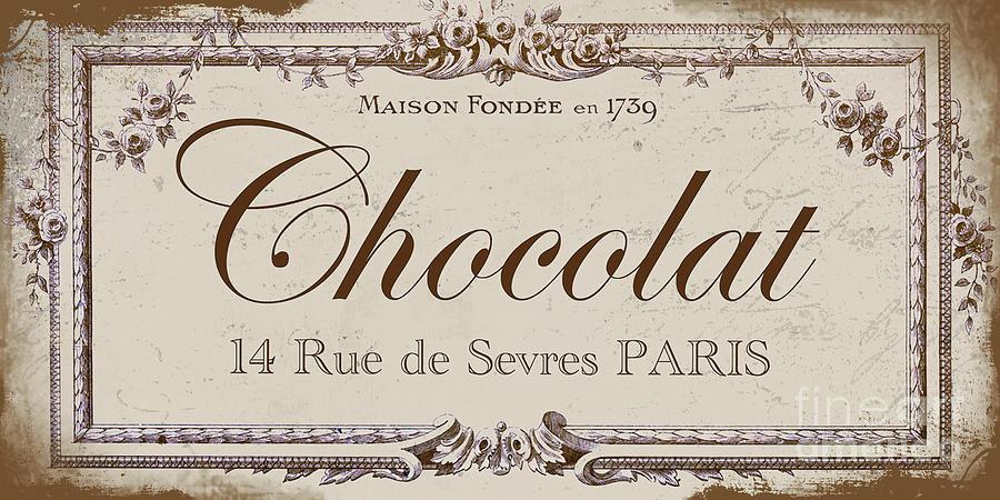 Vintage Paris Chocolate Sign Painting