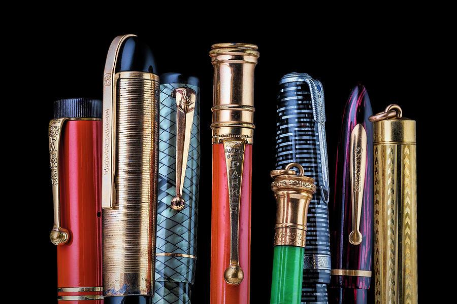 Antique Photograph - Vintage Pen Collection by Tom Mc Nemar