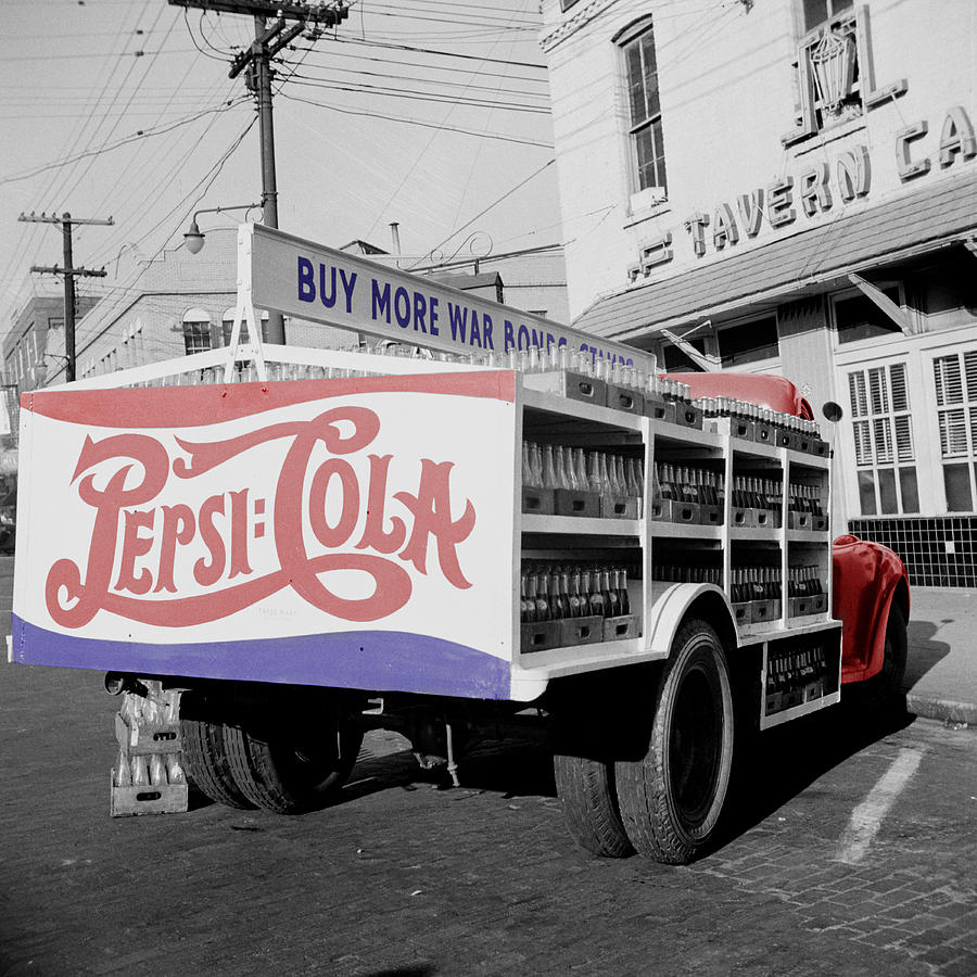Vintage Pepsi Truck Photograph
