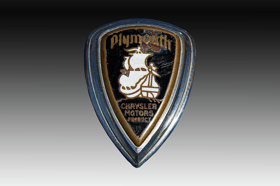 Vintage Plymouth Car Emblem Photograph By Nick Gray