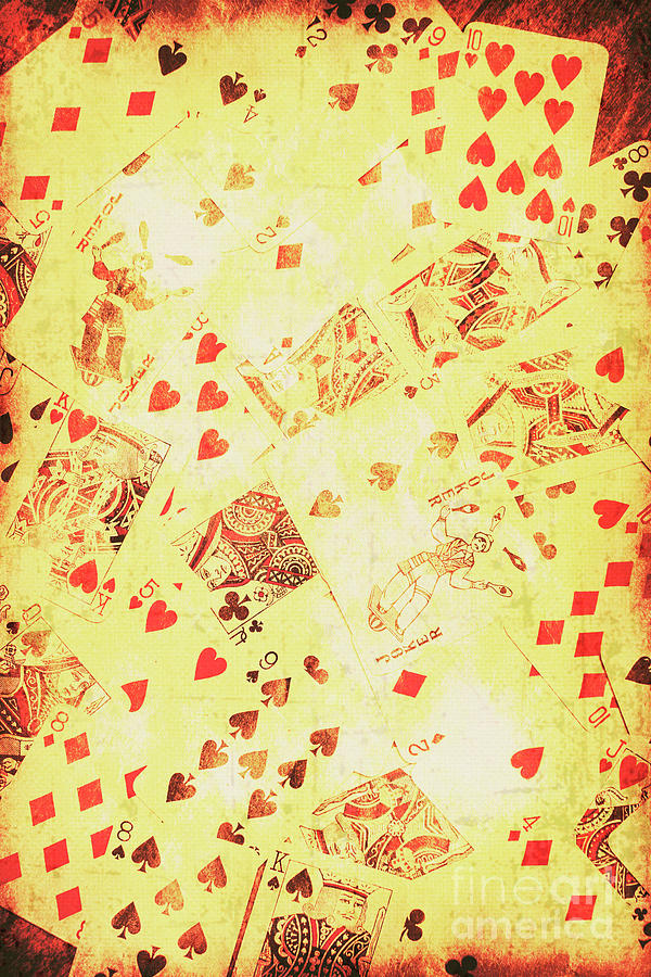 Vintage Poker Background Photograph by Jorgo Photography - Wall Art ...