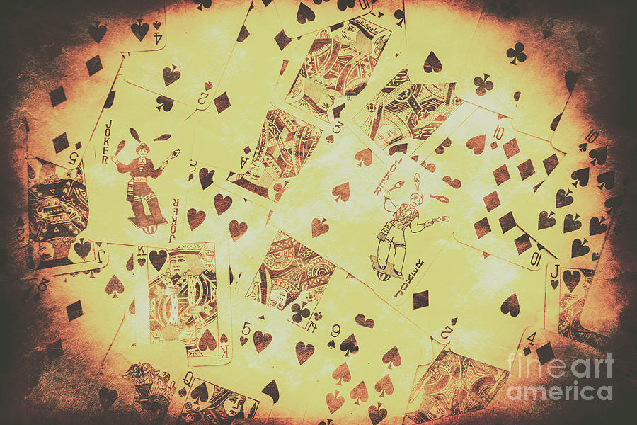 Vintage Poker Card Background Photograph by Jorgo Photography - Wall ...