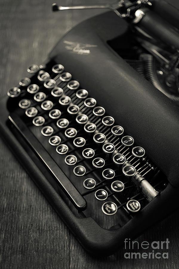 Still Life Photograph - Vintage Portable Typewriter by Edward Fielding