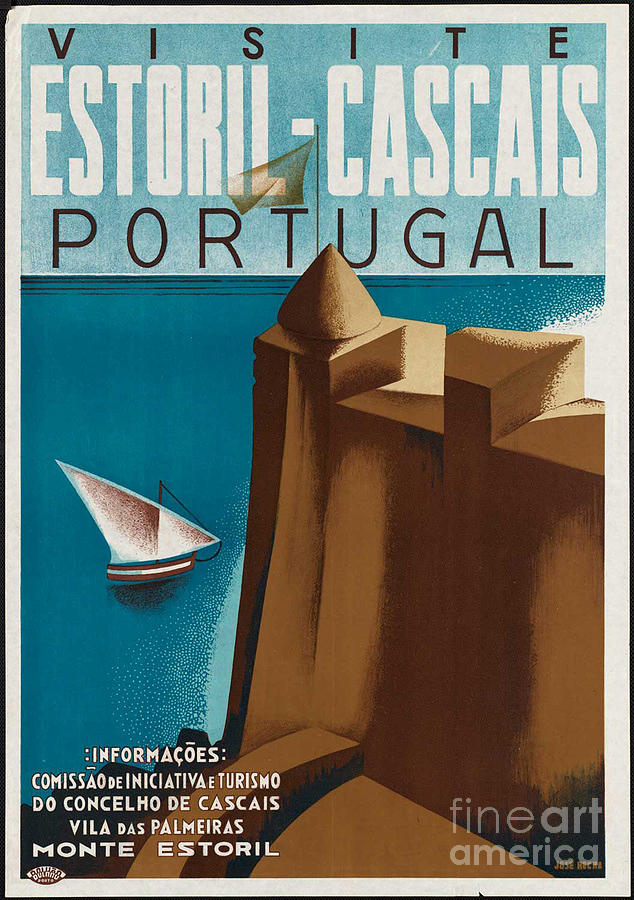 Vintage Portugal Travel Poster Photograph By George Pedro