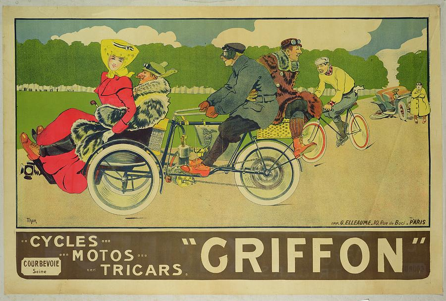 Bikes Painting - Vintage Poster Bicycle Advertisement by Walter Thor