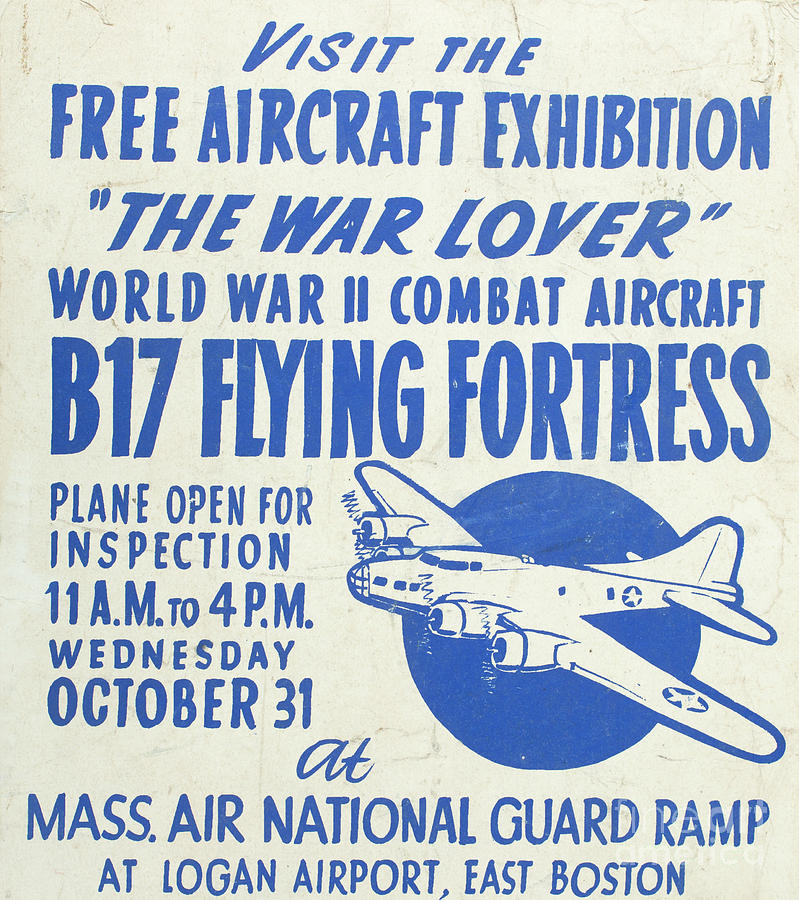 Vintage Posters Photograph - Vintage Poster For The War Lover Aircraft Exhibition II by Edward Fielding