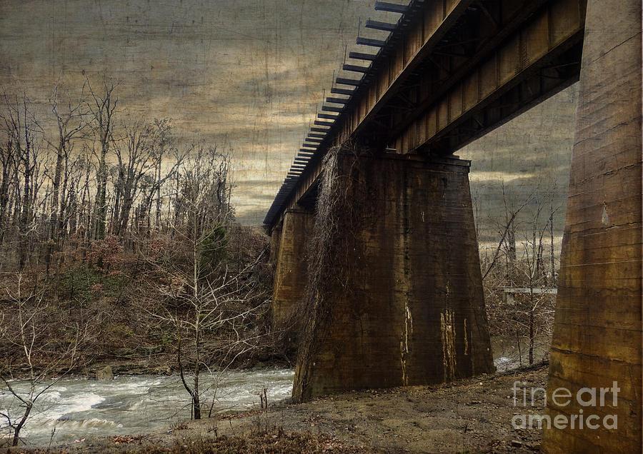 Photoshop Photograph - Vintage Railroad Trestle by Melissa Messick