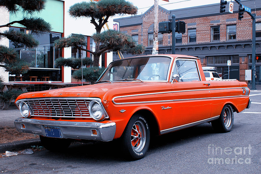 Vintage Red Ford Ranchero Photograph