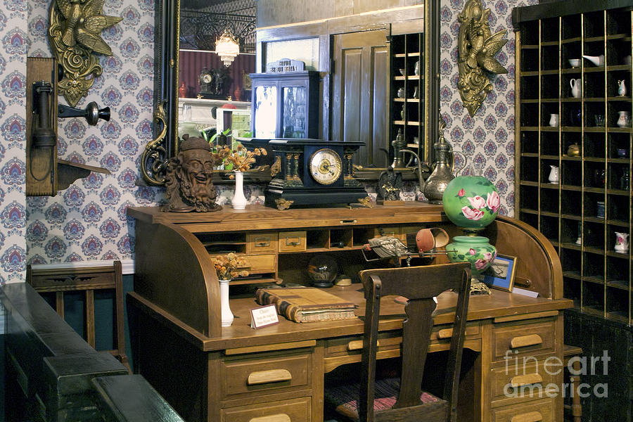 history photograph vintage roll top desk by linda phelps