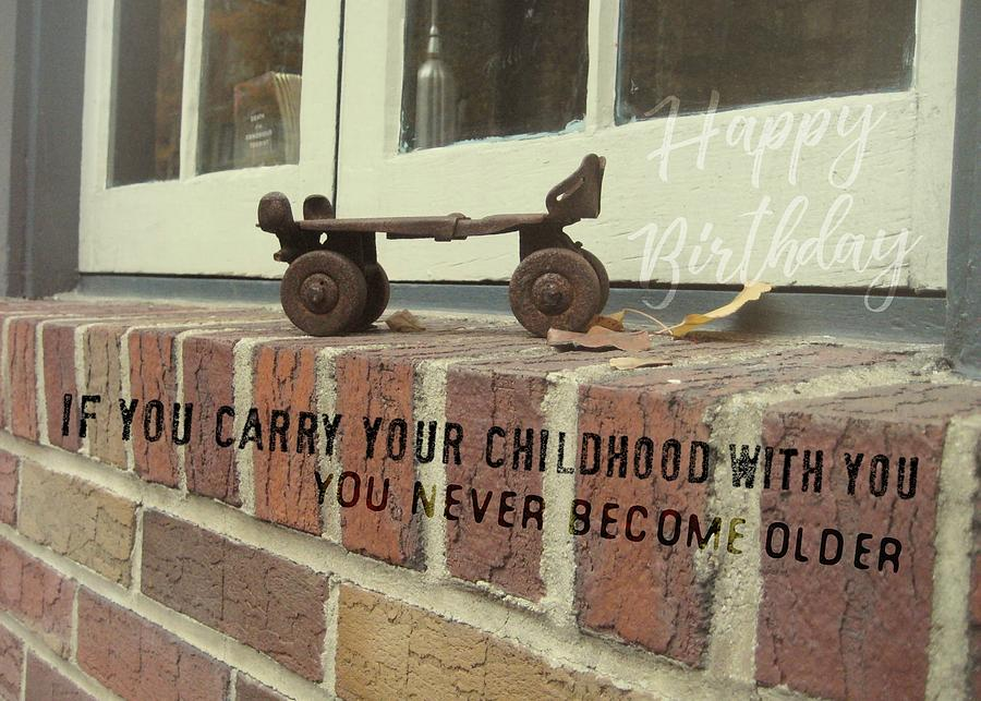 Window Photograph - Vintage Roller Skate Quote by JAMART Photography