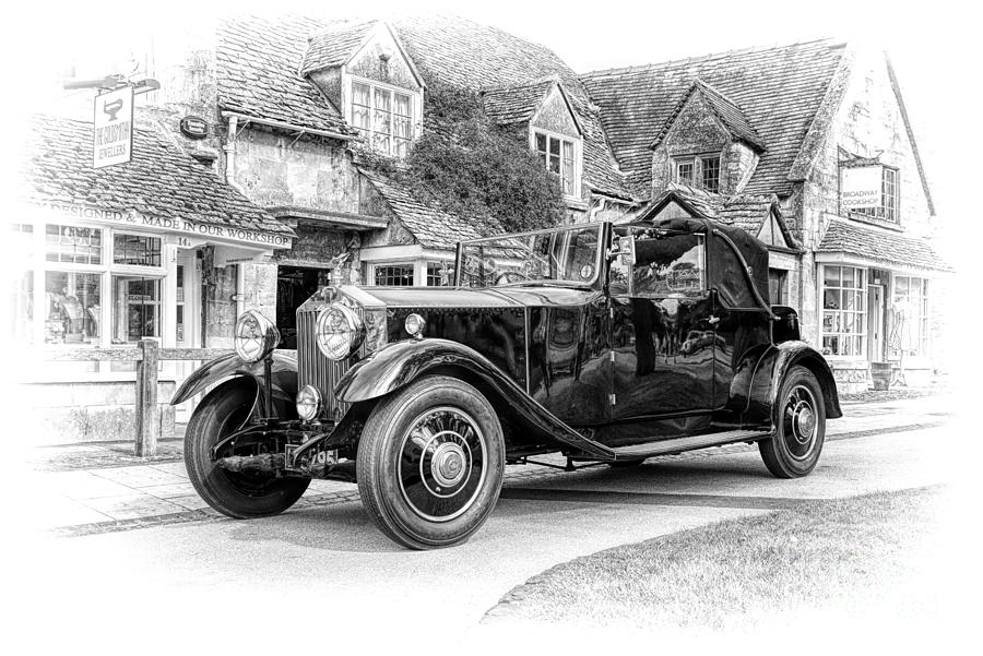 Vintage Photograph - Vintage Rolls Royce  by Tim Gainey