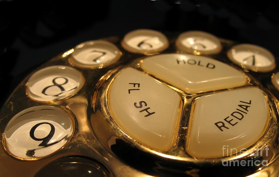 Old Photograph - Vintage Rotary Dial Phone by Yali Shi