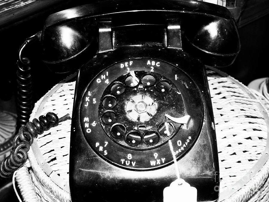 Vintage Rotary Phone Photograph By Christina Bowe