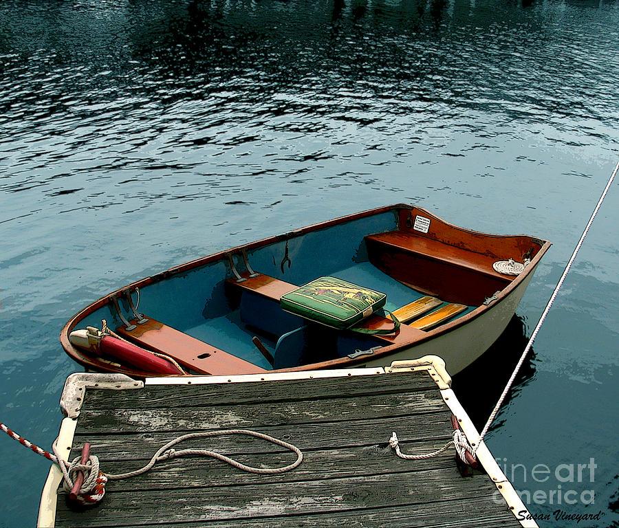 Vintage Photograph - Vintage Rowboat by Susan Vineyard