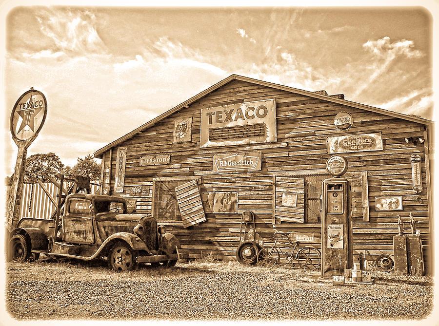 Vintage Service Station by Steve McKinzie