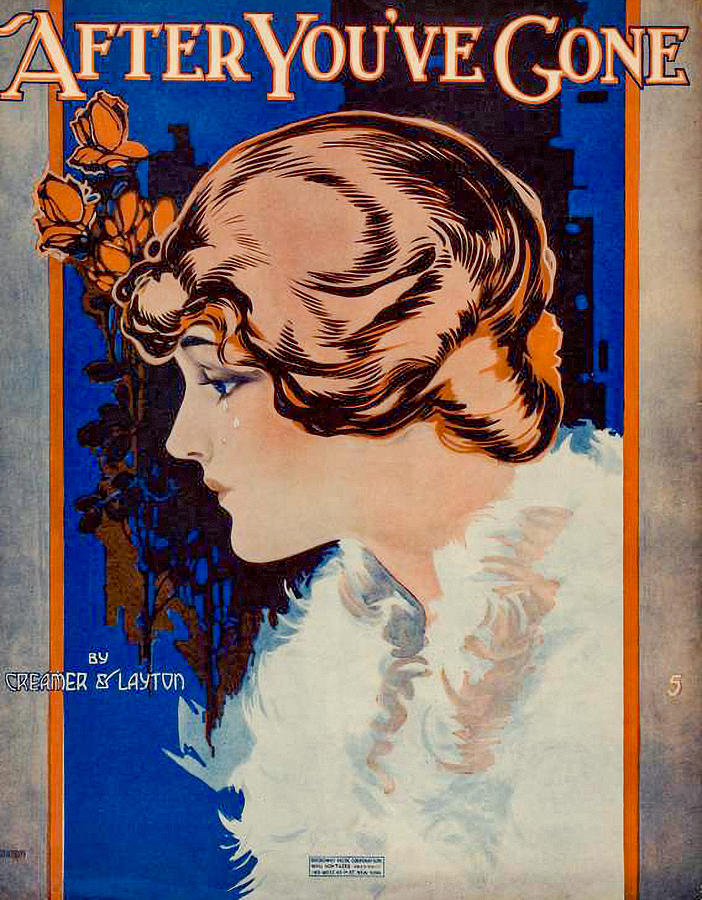 Vintage Sheet Music Cover Photograph
