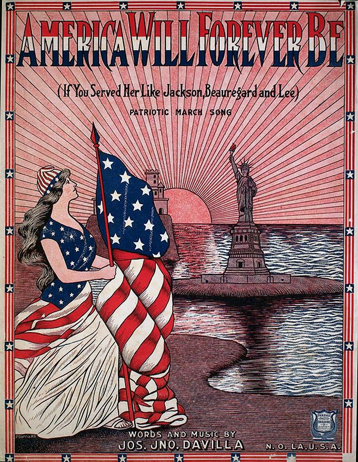 Vintage Sheet Music Cover Art - Ww 1 Photograph