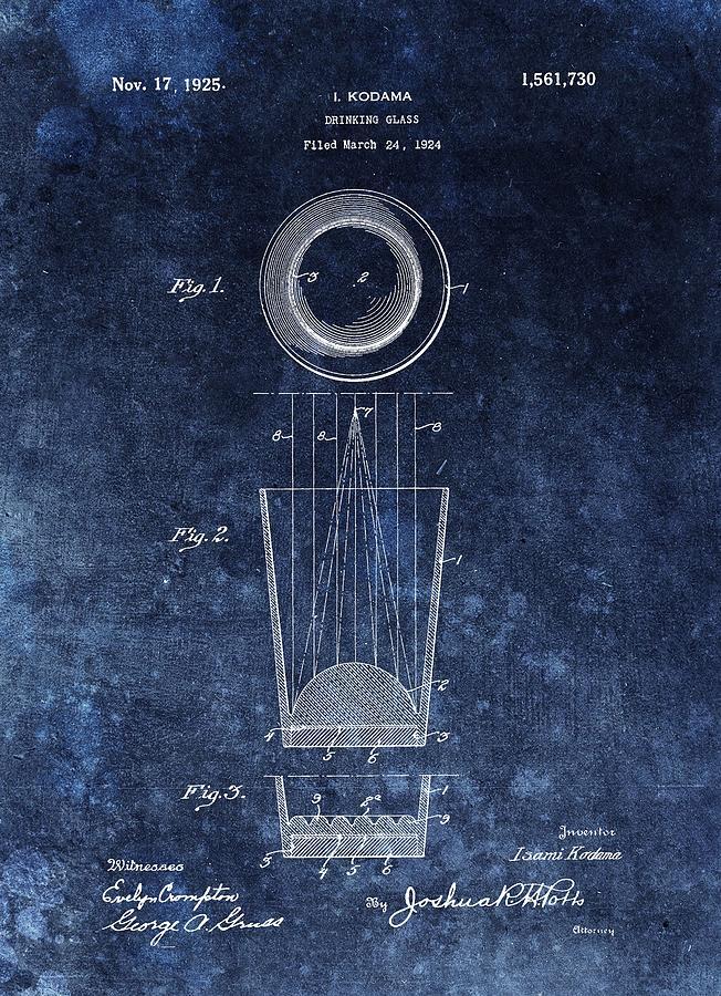 Vintage Shot Glass Patent Drawing