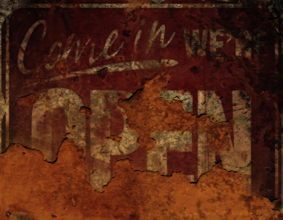 Rust Mixed Media - Vintage Sign 89c by Brian Reaves